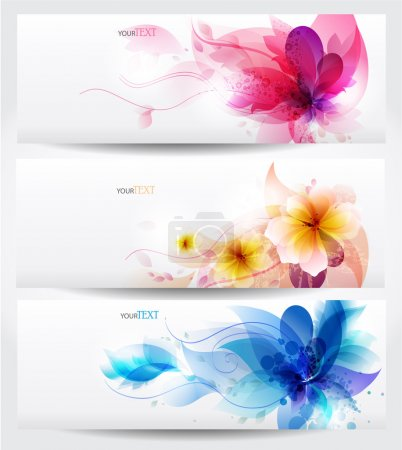 Illustration for Set of floral cards with copy space - Royalty Free Image