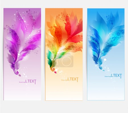 Illustration for Set of 3 banners - Royalty Free Image