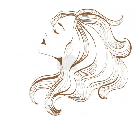 Illustration for Face of a beautiful woman - Royalty Free Image