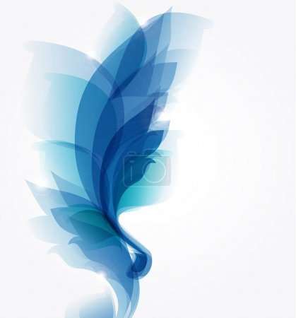 Abstract blue background for floral elements
