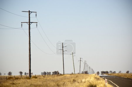Powerlines Heat Haze