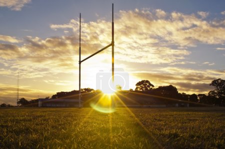 Goal posts for football, rugby union or league on ...