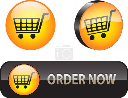 Illustration for Stylish ecommerce button\icon set for web applications Vector illustration - Royalty Free Image