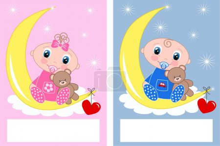 Illustration for Newborn baby announcement - Royalty Free Image