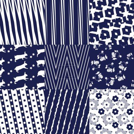Blue Seamless Patterns