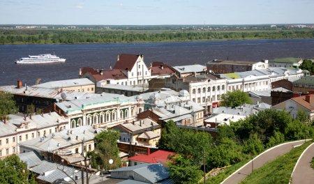 Spring view oldest part Nizhny Novgorod Russia