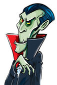 Cartoon Count Dracula smiles