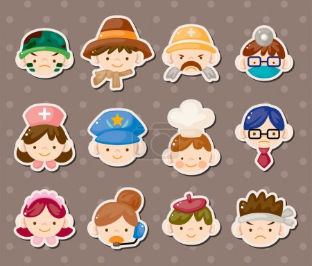 Photo for Job face stickers - Royalty Free Image