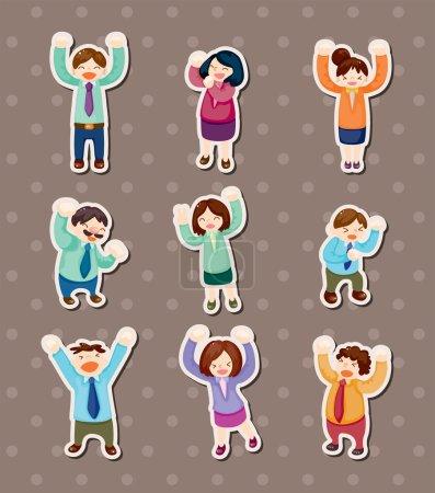 happy office worker stickers