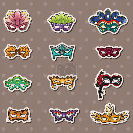 party mask stickers
