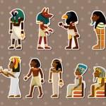 Cartoon pharaoh stickers...