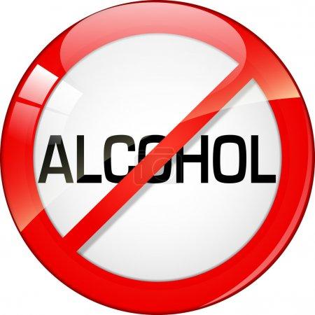 Illustration pour Pas d'alcool - image libre de droit