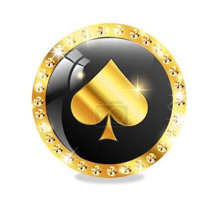 Poker, casino icon
