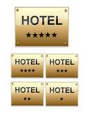 PLAQUE NOIRE OR HOTEL 5