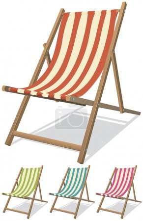Illustration of a collection of beach chairs for s...