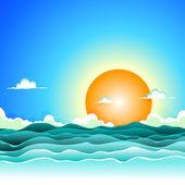 Summer Cartoon Ocean Background