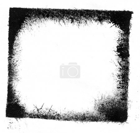 Photo for Black grungy frame on white background - Royalty Free Image