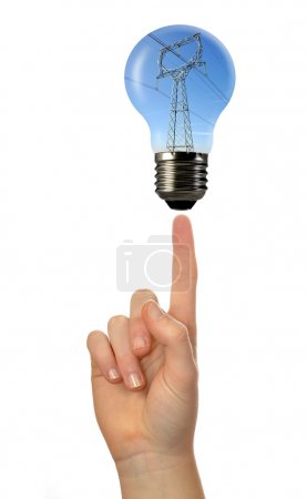 Power line in the bulb