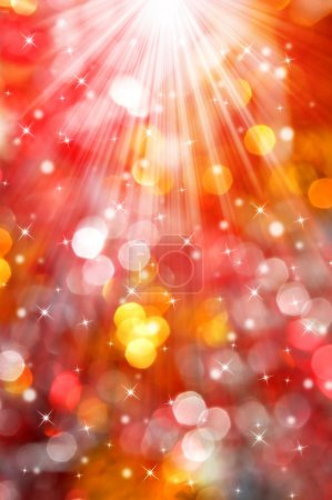 Abstract red christmas bokeh