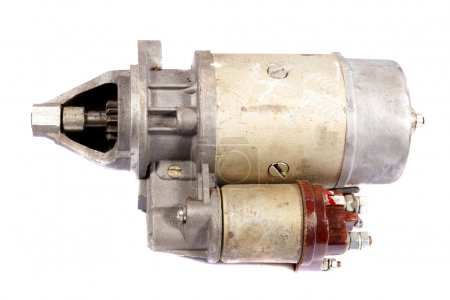 Car starter on a white background