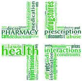 Pharmacy symbol tag cloud