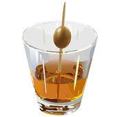 Brandy in a clear glass