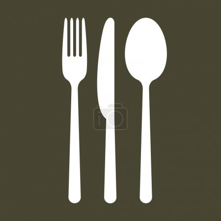 Cutlery on black background...