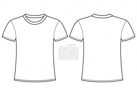 Blank t-shirt templateck
