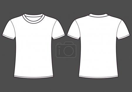 Illustration pour Modèle de t-shirt vierge. Avant et arrière - image libre de droit