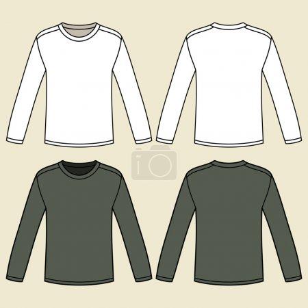Long-sleeved T-shirt template