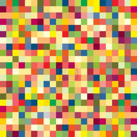 Colorful pixel pattern