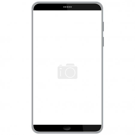 Illustration for Illustration of latest smart phone isolated in white background. - Royalty Free Image