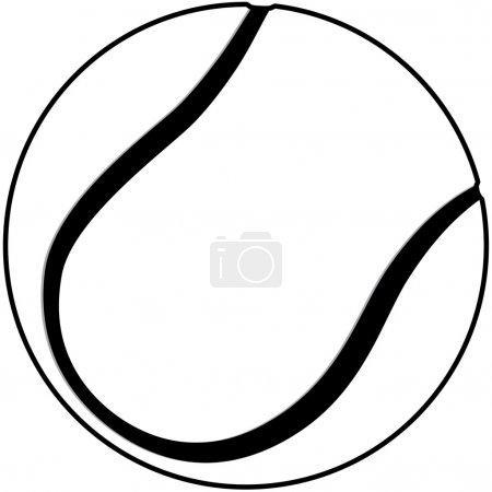 Tennis ball outline