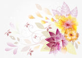 Abstract vector floral background with space
