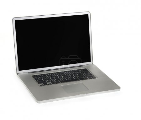Photo for Isolated laptop computer on white - Royalty Free Image