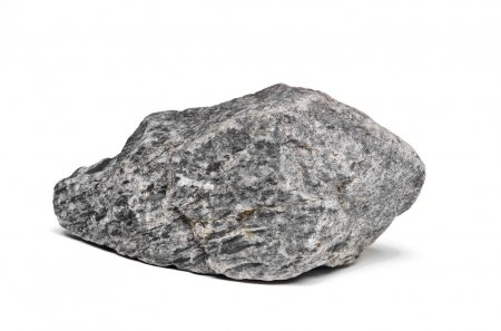 Photo for Rock boulder on white - Royalty Free Image