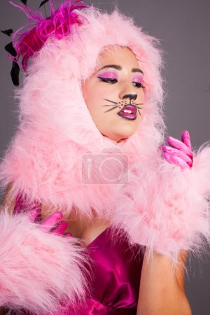 Sexy Woman in Cat Costume