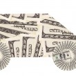 Automobile of very many mass currency note dollars...