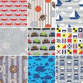 Set of Boys Fabric Swatches