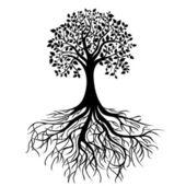 "Постер, картина, фотообои ""дерево с корнями"""