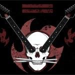 Grunge style metal rock design...