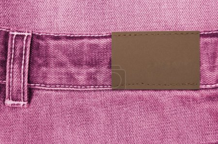 Jeans with label