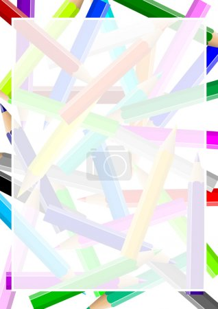 Colorful pencils chaos frame
