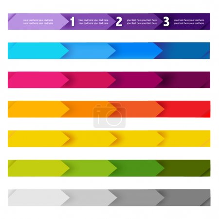 Illustration for Lines And Numbers Website Design Elements, Vector Illustration - Royalty Free Image