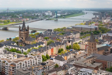 View of the Rhein and Cologne