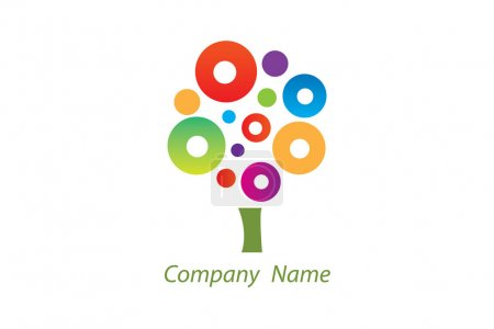 Photo for Simple and clean logo good for design and creative companies. - Royalty Free Image