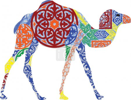 Camel in the Arab ornament