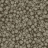 Seamless background texture with flowers and leaves vector pattern