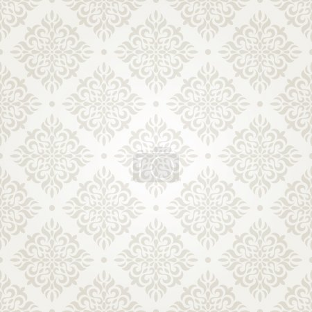 Illustration for Silver vintage seamless wallpaper. EPS 8 vector illustration. - Royalty Free Image