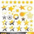 Set of star icons and logos...